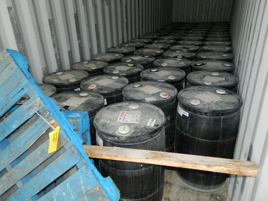 Fifty-nine (59) 45 Gallon Drums Of Esso Oil Spratan Ep 320