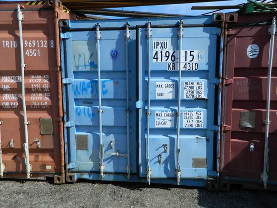 Shipping Container Number: 419615