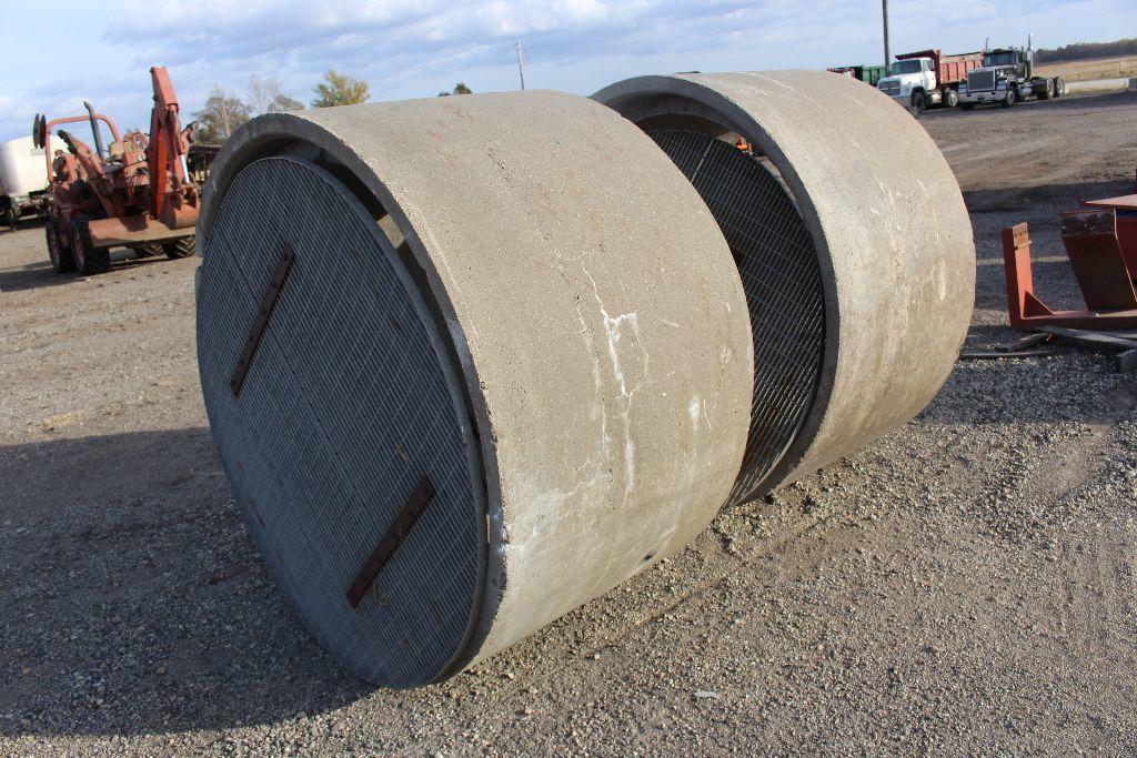 2) 4' concrete culverts, w/me    Auctions Online | Proxibid