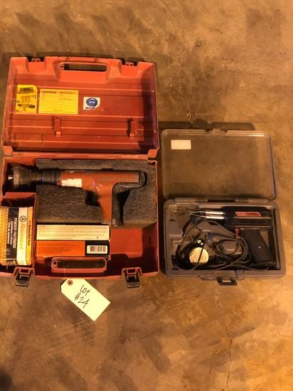 Hilti ramset gun & Weller soldering gun
