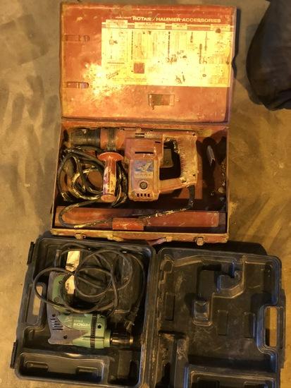Milwaukee rotary hammer & Hitachi 3/8 drill