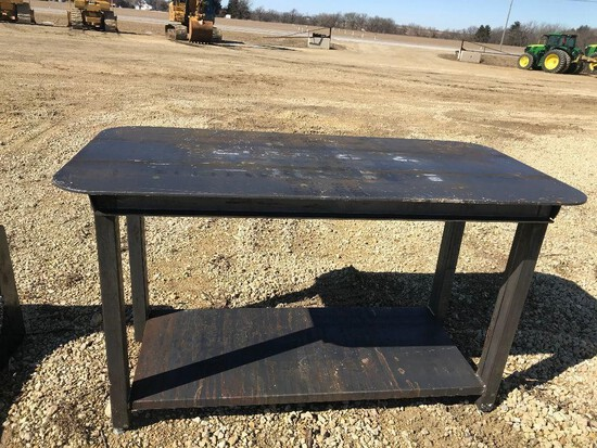 30 x 57 Welding Shop Table with shelf