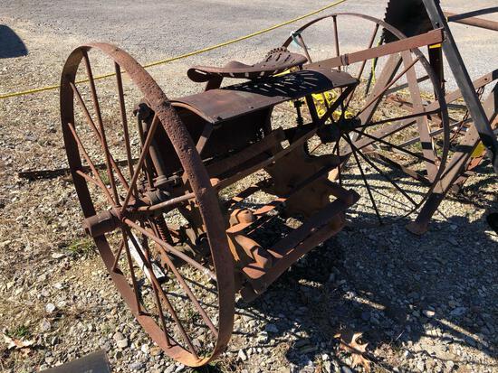 Antique Horse Drawn Stalk Chopper