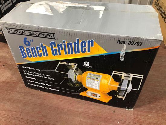 New 6in Bench Grinder