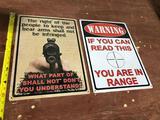 (2) Tin Signs