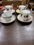 (4) Vintage Plates with Cups