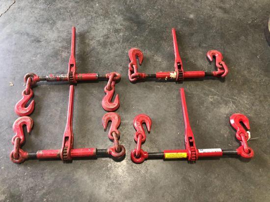 (4) Ratchet Chain Binders