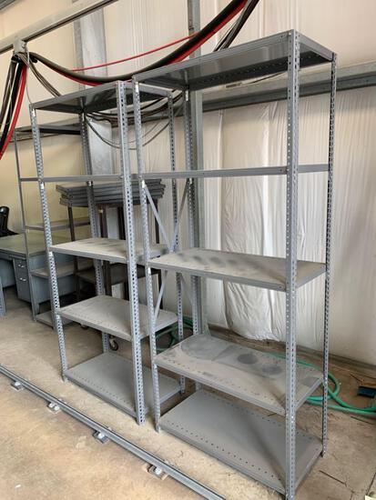 (2) Metal shelves