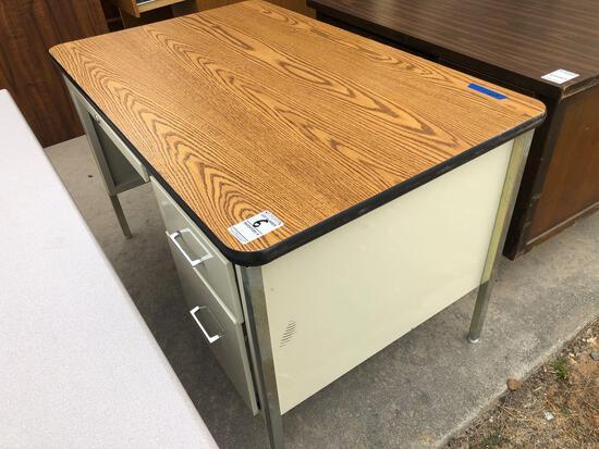 Metal Wood Top Desk