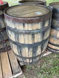 Wooden Whiskey Barrel
