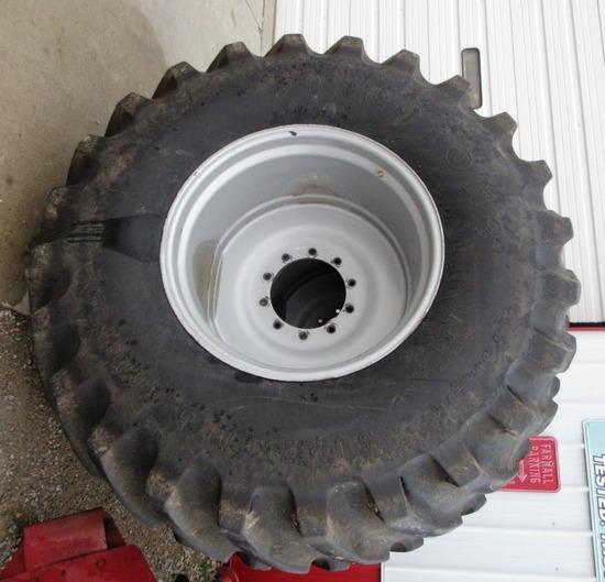 Pair of 30.5L-32 Firestone Combine Tires w/ Rims