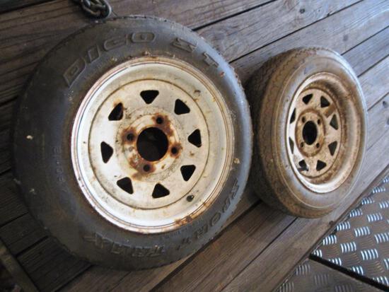 (2) 4.80-12 Tires on 4 Bolt Rims