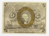 1863 FIVE CENT FRACTIONAL CURRENCY
