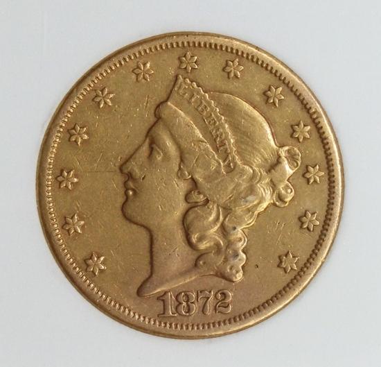 1872-CC $20.00 GOLD