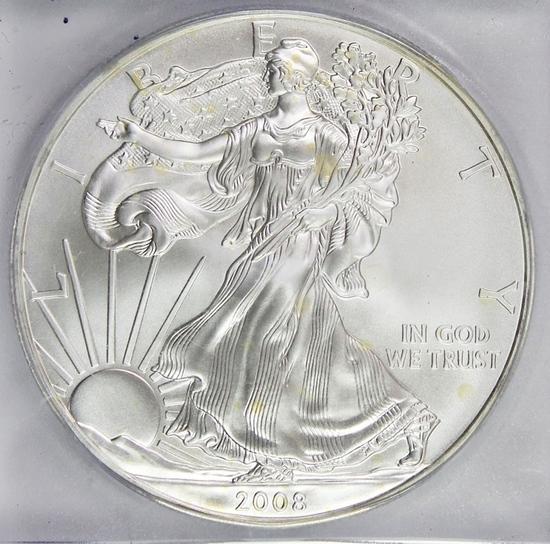 2008 AMERICAN SILVER EAGLE