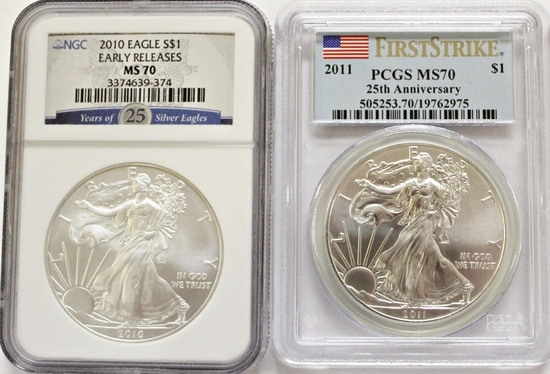 2011 AND 2010 AMERICAN SILVER EAGLES