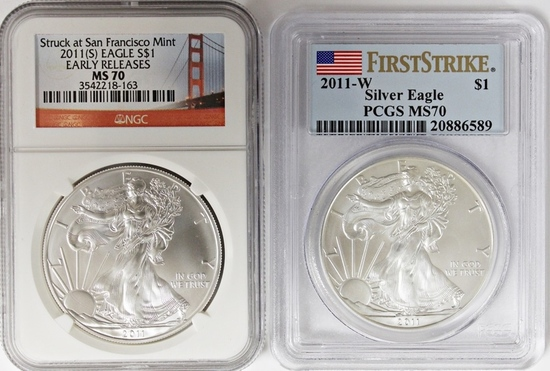 2011-W AND 2011-S AMERICAN SILVER EAGLES