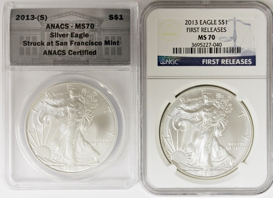 2013-S AND 2013 AMERICAN SILVER EAGLE