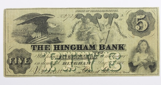 1860 THE HINGHAM BANK