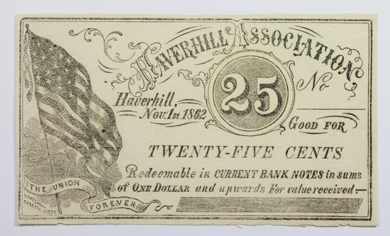 1862 TWENTY FIVE CENT