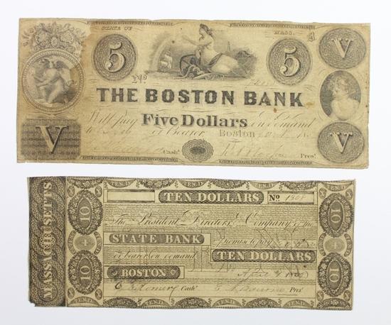 (2) BOSTON OBSOLETE BANK