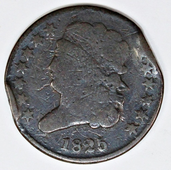 1825 HALF CENT