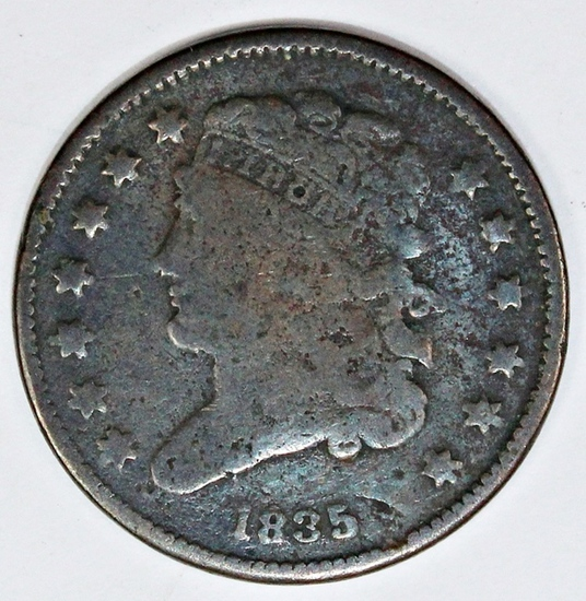 1835 HALF CENT
