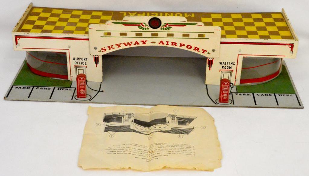 Rare Vintage Rich Industries Clinton, Iowa #755 Airport playset