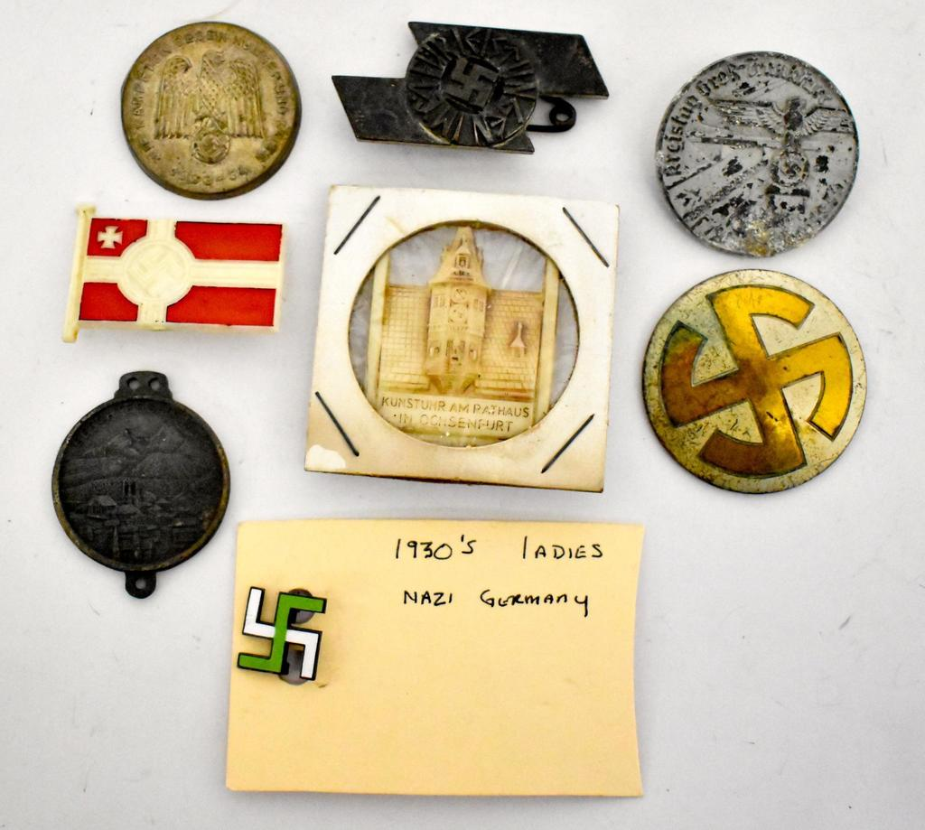 Lot: Grouping of Miscellaneous WWII German Nazi Pins | Proxibid Auctions