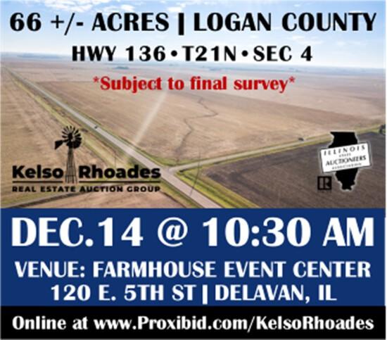 Logan County Farmland Auction 66 +/- Acres