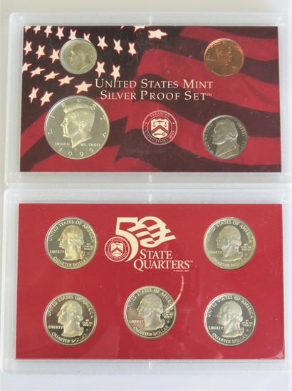 1999 Silver 9 piece Proof Set