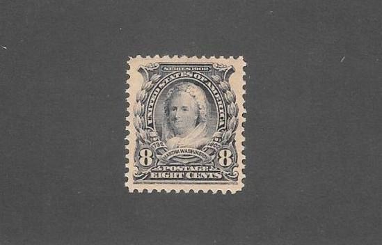 US Scott 306 Mint 6 Cents Martha Washington XF