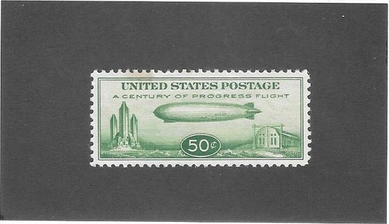 US C18 Graf Zepplin Airmail Mint XF
