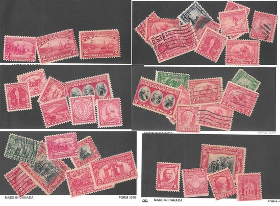 40+ Early Commemorative Stamps Mostly 2c Carmines