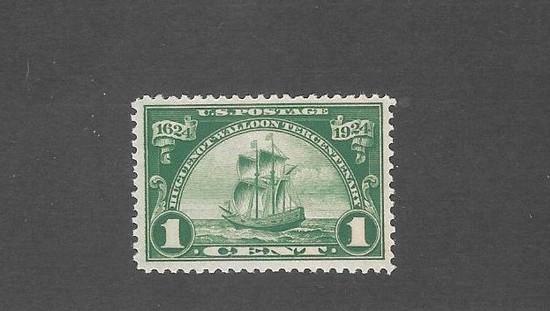 US 614 Stamp One Cent Huguenot OGNH XFS