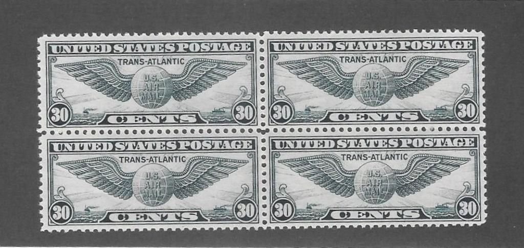 US C24 Block of Four Mint OGNH Gem