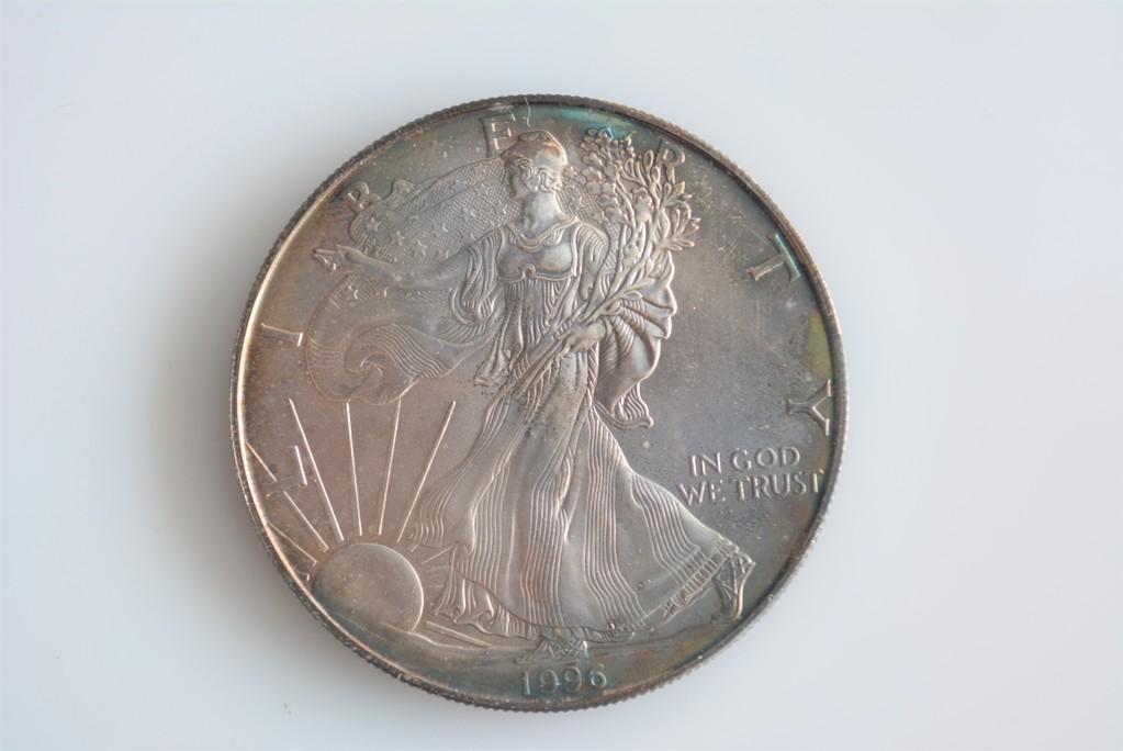 1996 American Silver Eagle KEY Date