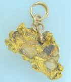 Gold Nugget and Quartz Pendant