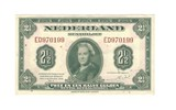 1943 Netherlands 2.5 Gulden Note CU