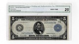 1914 Five Dollar Federal Reserve Note CGA VF-25
