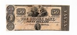 Bank of Sussex NJ 1850's Obsolete $50.00 Note Unc