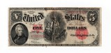 1907 $5.00 Wood-Chopper-United States Note F-VF