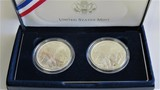 2001 Buffalo Silver Dollar 2 Piece Set