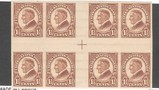 US SC 631 1.5c Cross Gutter Block of 8 Mint OGnh