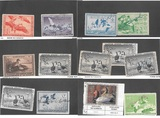 39 US Duck Stamps Inc WA and CA State Stamps
