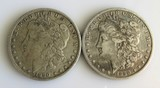 1890-O Morgan Silver Dollars Two (2ct.) VF-XF
