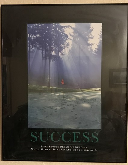 "Successories ""Success"" Framed Picture"