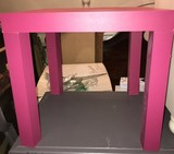 Hot Pink Wood Side Table