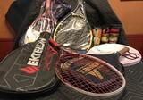 9 Tennis Rackets and Tennis Balls Lot