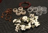 4 Sets of Napkin Rings and 1 Candle Wring
